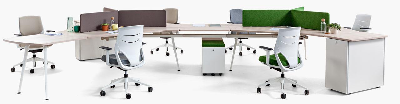 solución odular de mesas de oficina Twist